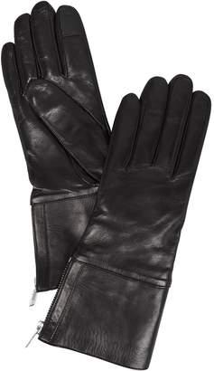 Carolina Amato Side Zip Black Gloves
