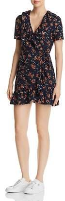 Cassandra Re:Named Floral-Print Mini Wrap Dress