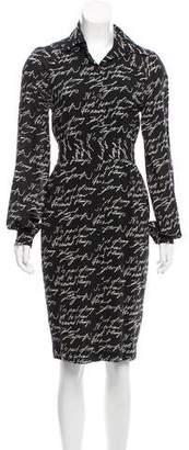 Karl Lagerfeld by Printed Silk Dress