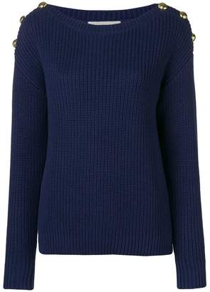 MICHAEL Michael Kors button embellished sweater
