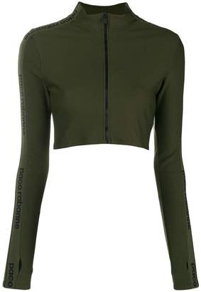 Paco Rabanne zip-up cropped jacket