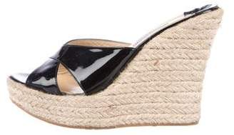 Jimmy Choo Patent Leather Espadrille Wedges
