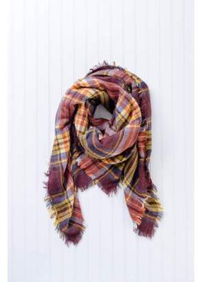 """Tickled Pink Bountiful Blanket Plaid Scarf, 55"""" x 55"""", 100% Acrylic, Multiple Colors"""