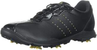 adidas Women's W Adipure DC Golf Shoe, Gold met./core Black, 7.5 Medium US
