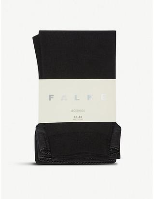 Falke Soft merino and cotton-blend leggings