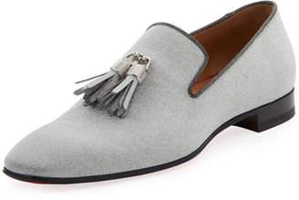 Christian Louboutin Men's Rivalion Glitter Tassel Loafer