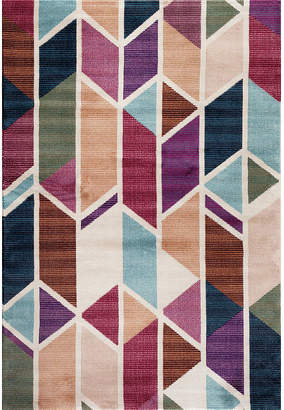 LOFT WORLD RUG GALLERY World Rug Gallery Geo Stripe Rectangular Accent Rug