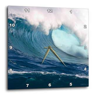 3dRose 60 foot surf crashes on Mauis Northshore at Peahi (Jaws), Wall Clock, 15 by 15-inch