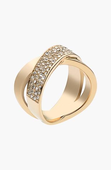 MICHAEL Michael Kors Michael Kors 'Brilliance' Crisscross Ring