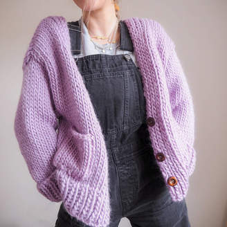 Lauren Aston Designs Button 'Knit' Up Slouchy Cardigan Knitting Kit