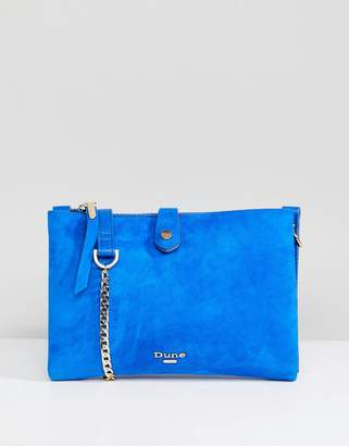 Dune Cross Body Bag in Bright Blue Suede