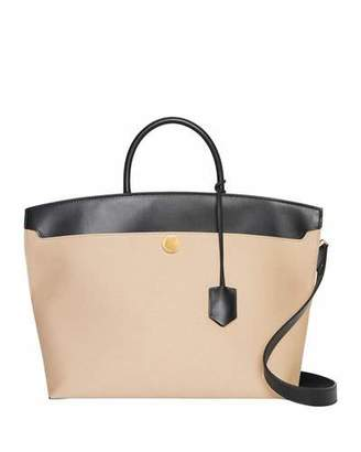 Burberry Society Medium Two-Tone Tote Bag