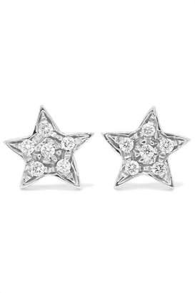 Carolina Bucci Superstellar 18-karat White Gold Diamond Earrings