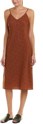 Vince Celestial Polka Dot Silk-Blend Slip Dress