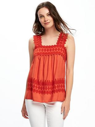 Lightweight Cutwork Swing Tank for Women $32.94 thestylecure.com