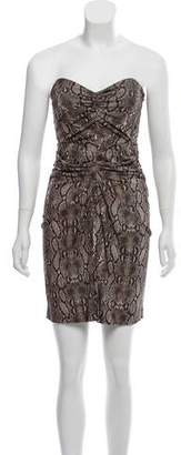 Michael Kors Animal Print Strapless Dress