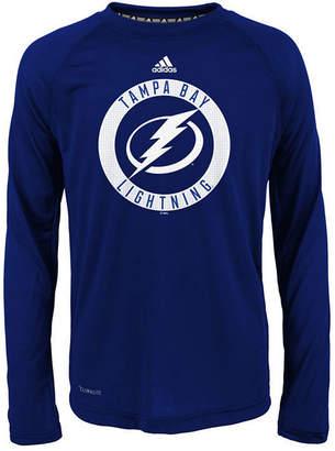 adidas Tampa Bay Lightning Practice Graphic Long Sleeve T-Shirt, Big Boys (8-20)