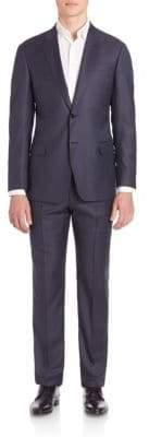 Giorgio Armani Sharkskin Wool Suit