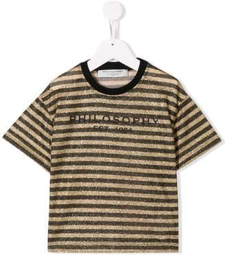 Philosophy di Lorenzo Serafini Kids striped T-shirt