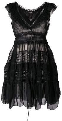 DSQUARED2 embroidered flared mini dress