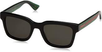 Gucci GG 0001S 006 Black Plastic Square Sunglasses ized Lens