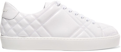 Burberry - Quilted Leather Sneakers - White