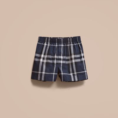 Burberry Check Twill Cotton Boxer Shorts 14