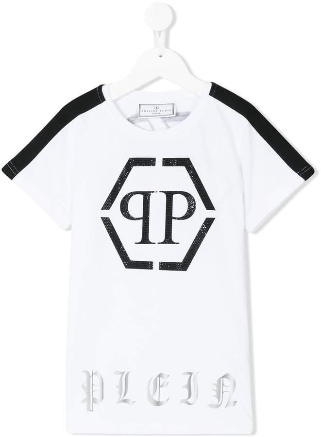 Philipp Plein Junior T-Shirt mit verziertem Logo-Print