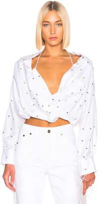 Jacquemus Siena Shirt in Navy Dots | FWRD