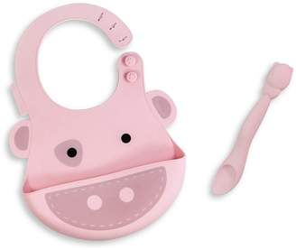 Marcus Collection & Pokey the Pig Silicone Baby Bib and Feeding Spoon Set