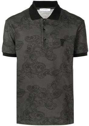 Versace paisley printed polo shirt