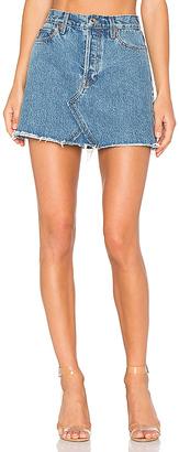 RE/DONE Originals High Waisted Mini Skirt.
