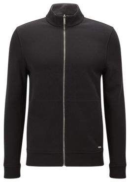 HUGO BOSS Scavo Cotton Full-Zip Sweater L Black