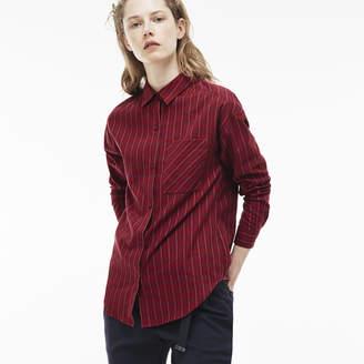 Lacoste (ラコステ) - チェックポプリンシャツ (長袖)