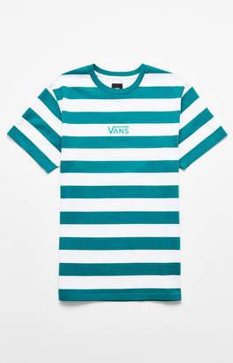 Vans Green Classic Stripe Vee T-Shirt