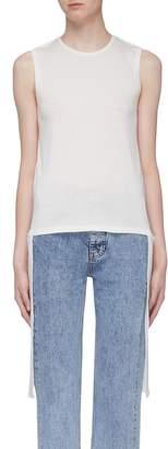 Helmut Lang Detachable sash twist shoulder silk-cotton tank top