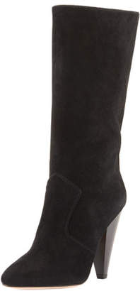 Veronica Beard Olivia Sport Suede Mid-Calf Boots