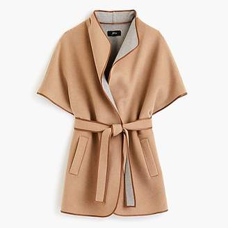J.Crew Collection contrast cape in double-faced wool