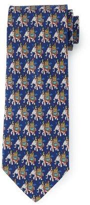 Salvatore Ferragamo Elephant-Print Silk Tie, Navy $190 thestylecure.com