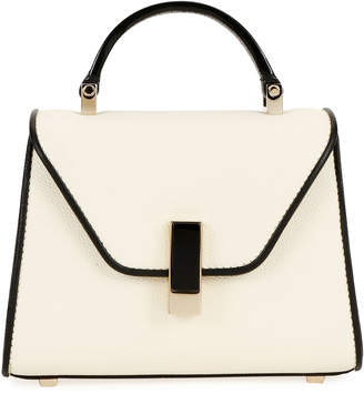 Valextra Iside Micro Two-Tone Saffiano Top-Handle Bag