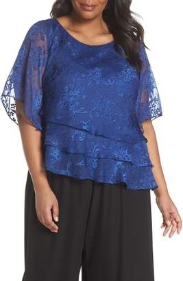 Alex Evenings Embroidered Asymmetrical Top