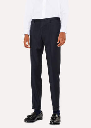 Paul Smith Men's Slim-Fit Navy Wool And Cashmere-Blend Pants