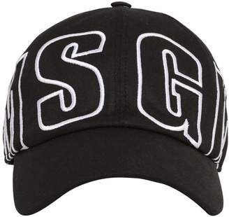 MSGM Logo Embroidered Cotton Baseball Hat