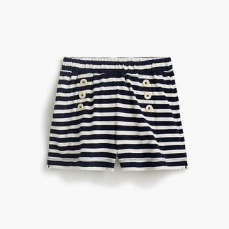 J.Crew Girls' sailor-style pull-on short in stripes