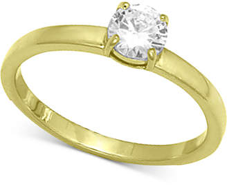 Giani Bernini Cubic Zirconia Stone Ring in 18k Gold-Plated Sterling Silver