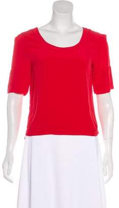 Maiyet Short Sleeve Silk Top
