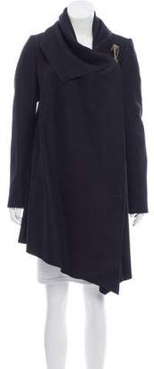 AllSaints Draped Wool Coat