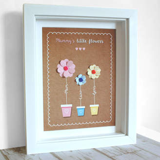 The Little Paper Company 3D Personalised Flower Pot Box Frame
