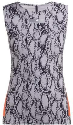 adidas by Stella McCartney Alpha Snakeskin Print Tank Top - Womens - Grey Print