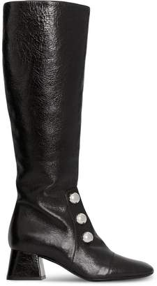 Burberry Stud Detail Leather Knee-high Boots